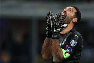 اشک های بوفون پس از حذف ایتالیا (ویدیو)