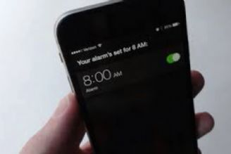 ساعت گوشی تلفن همراه
