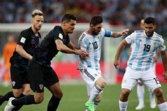 وقتی آرژانتین از کرواسی 3 گل دریافت می کند