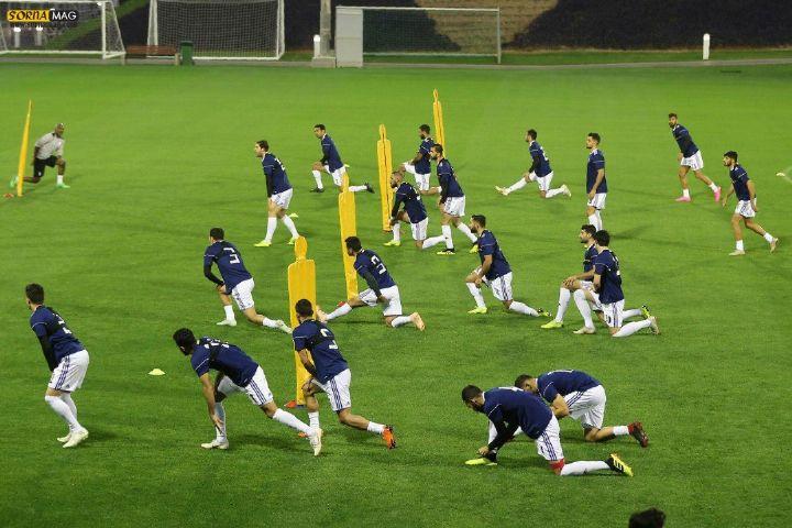 تمرین تیم ملی فوتبال در امارات محل بازیهای جام ملتهای آسیا
