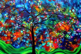 نقاشی روی شیشه و ظروف شیشه ای با رنگ ویترای