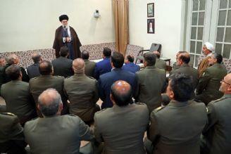 دیدار جمعی از فرماندهان ارتش با رهبر انقلاب