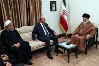 رهبر معظم انقلاب اسلامی در دیدار رییسجمهور عراق:مقابل دشمنان «عراقِ قدرتمند و آرام» با قدرت بایستید