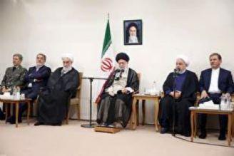 دیدار رئیسجمهور و هیئت دولت با رهبر انقلاب