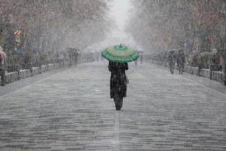 بارش برف و باران در غرب و جنوب غرب