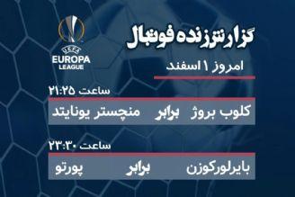 پخش زنده گزارش ورزشی فوتبال در اروپا