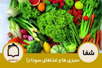 سبزی ها و غذاهای سودازا