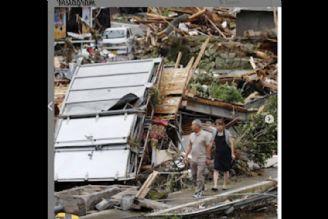 در منطقه كوماموتو خسارت های سیل و باران شدید در ژاپن