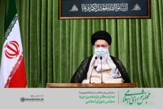 رهبر انقلاب در ارتباط تصویری با نمایندگان مجلس: همه باید در مقابل دشمن یكصدا باشیم
