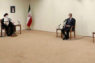 رهبر معظم انقلاب اسلامی در دیدار نخست وزیر عراق: ایران خواهان عراقِ عزتمند و آمریكا دشمن عراقِ قوی