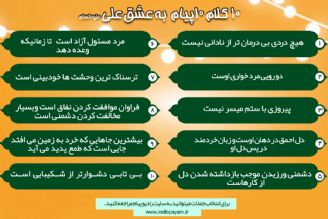مسابقه ده كلام ده پیام  به عشق علی علیه السلام