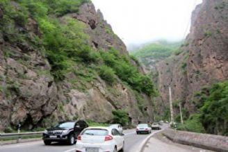 مازندران ترافیك پر حجم و روان در جادههای مازندران