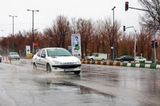 بارش برف و باران در 6 استان/ ترافیك در ورودی تهران